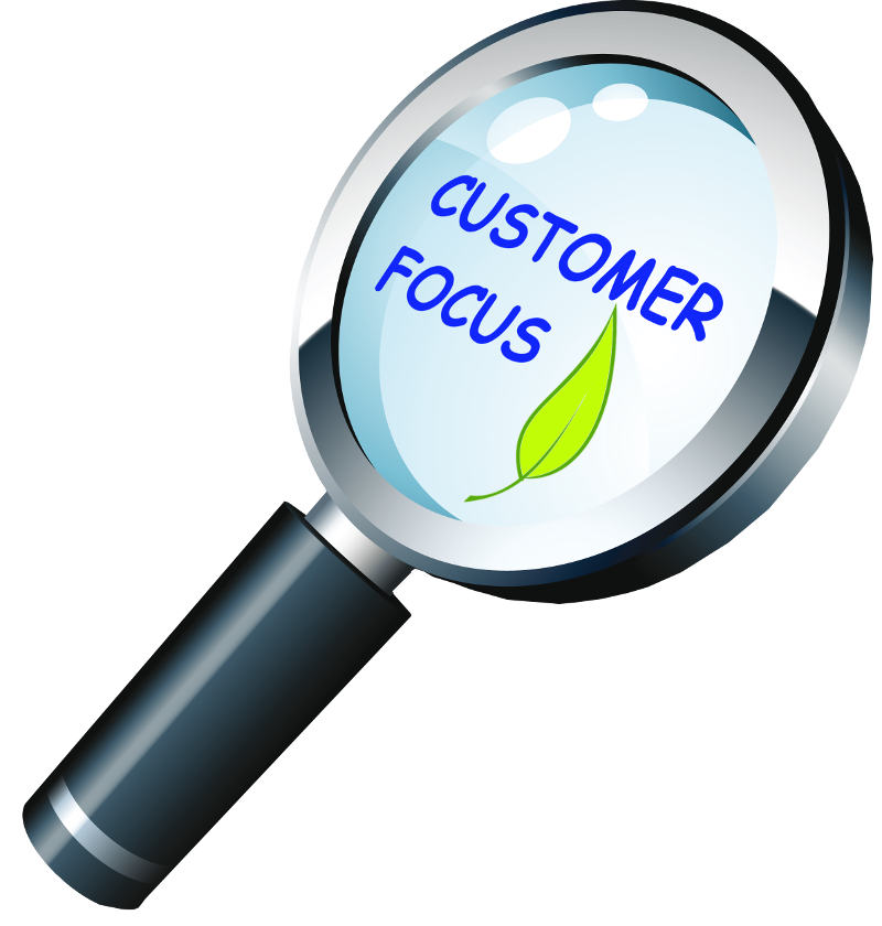 Customer & Environment Focus, <br> Efficient, Fast & Easy